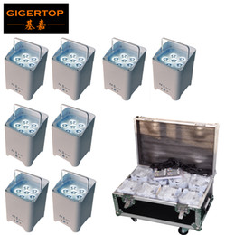 wireless light controls UK - Freeshipping 8in1 Charging Flightcase Pack 6x6W Casting Aluminum Led Par Light RGBWA UV 6IN1 Battery Wireless Remote Control TP-B06