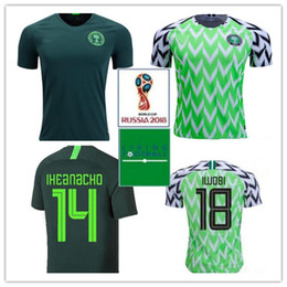 c8d6789d3 Green White Soccer Uniform Australia - Nigeria JERSEY 2018 World Cup MIKEL Home  Green white Soccer