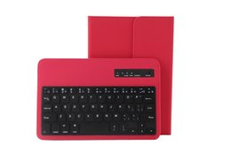 red wireless tablet Australia - Detachable Keyboard Litchi Leather Case Built-in Removable Wireless Keyboard for Apple Android System 7 to 8 inch Tablet Universal