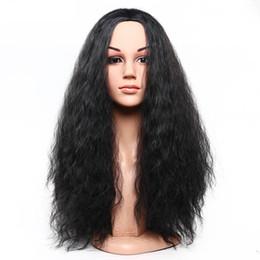 Loose Curls Long Hair Australia - Women Loose Fashion Curls Wig Thick Wave Middle Long Brown  Black Hair