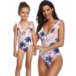 $enCountryForm.capitalKeyWord Australia - New Arrival Matching Outfits Flounce Mommy And Me Mother Daughter Family Swimsuit One Piece Bikini Baby Girl Clothes Mom Mama