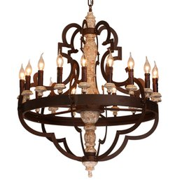 $enCountryForm.capitalKeyWord UK - Solid wood chandelier Industrial wind 18 heads Lamp LOFT club bar coffee living room clothing store stair light exit G185