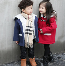 Wholesale Baby Kids Clothing Girls Coat Baby Winter Jacket Kids Infant Horn Button Hoodies Thick Fleece Outerwear Children Clothes For Girl Boys YL911