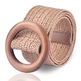 $enCountryForm.capitalKeyWord Australia - Braided Wooden Belt Ladies Casual Summer Decorate Dress Belt High Quality Waist Woven cummerbund Woman Elastic Belts Waistband
