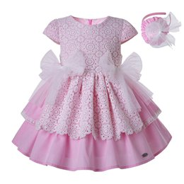 children summer frocks NZ - Pettigirl Summer for Girl Dress White Layered Lace Princess Party Child Kids Boutique Clothes Porno Elegant Frocks G-DMGD203-32