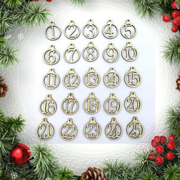$enCountryForm.capitalKeyWord NZ - 25pcs 1-25 Wooden Christmas Advent Calendar Gift Tags Number Gift Tags Christmas Countdown decoration New