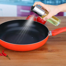 Discount cooking spray bottle - Cooking Oil Pump Spray Bottle Olive Can Tool Pot Cooking Kitchen Stainless Steel Glass