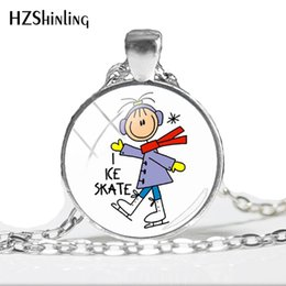 $enCountryForm.capitalKeyWord NZ - 2019 NEW I Love Figure Skating Pendant Necklace Round Hand Craft Jewelry Link Chain Pendants Class Art Printed Necklaces HZ1