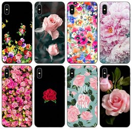p painting Canada - [TongTrade] Flower Roses Peony Painted Case For iPhone 11 Pro X XS Max XR 6s 5s 5c Plus Galaxy A8 Plus Huawei P9 P Smart Z Xiaomi 4C 4i Case