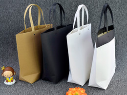 $enCountryForm.capitalKeyWord Australia - High quality gift shopping bag kraft paper clothes food tote bag eco friendly reusable brown paper rivet carrier bag