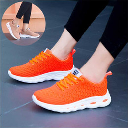 orange scale Australia - Autumn 2019 New Flying Weaving Shoes Womens Fish Scale Comfortable Casual Shoes Large Size 41 Sneakers Female Running Shoes Orange