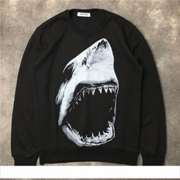 $enCountryForm.capitalKeyWord Australia - 2019 Autumn winter fashion men Hoodies Casual sports Long sleeve sweatshirt men shark tooth printing pullover Designer coat jacket