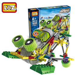 kids blocks wholesale Australia - LOZ Dinosaur& Alien Robt Building Blocks, DIY Electric Model Developmental Toy, Can Walk, Combine, for Kid' Birthday' Party Christmas Gifts