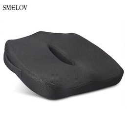 ergonomic chair office Australia - Smelov Ergonomic Coccyx Orthopedic Chair Seat Cushion soft Memory Foam Office Home Car Seat Cushion for Pain Relief black