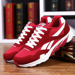 Male Shoes For Sale NZ - 2018 Hot sale Fashion Casual Shoes For Men High quality Breathable Lightweight Lace-up Unisex Male shoes footwear Black Red