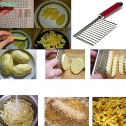 $enCountryForm.capitalKeyWord Australia - wholesale Potato Crinkle Wavy Edged Knife Stainless Steel Kitchen Gadget Vegetable Fruit Cutting Slicers Free shipping
