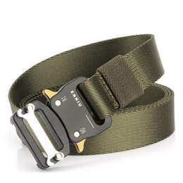 heavy metal accessories Australia - Nylon Tactical Belts Waist Belt with Metal Buckle Adjustable Heavy Duty Training Waist Belt Hunting Accessories