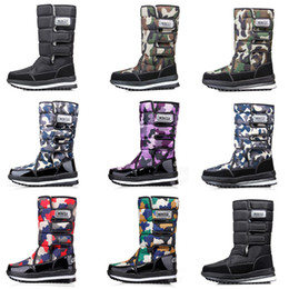 waterproof camo fabric Australia - HOT Fashion designer women men boots Black Blue Red Camo Half Boot mens snow winter boots waterproof platform booties 36-46