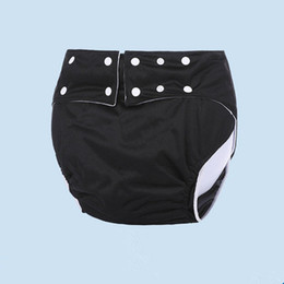 cloth adult diapers NZ - OEM&ODM Black Waterproof Reusable Adult Machine Washable adult Diapers Disabled Adult Cloth Diaper For Men and Women