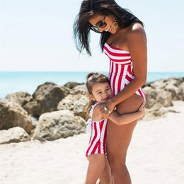 $enCountryForm.capitalKeyWord NZ - 2019 New Family Accessory Clothing Red Striped Parent-Child Bikini Baby Girl Swimsuit Mother And Daughter Swimsuit M-05483