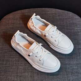 nurses rubber shoes Australia - Leather shallow mouth small white shoes women's new all-in-one women's shoes in autumn and winter 2019 nurse flat sole soft leather sneakers