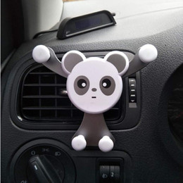 $enCountryForm.capitalKeyWord Australia - Panda Cell Phone Vehicle Holder, Auto-Clamping Air Vent Car Mount Holder Cradle Compatible for iPhone Samsung and More With Retail Box