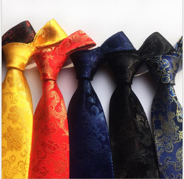 Chinese musiC man online shopping - Cloud brocade fabrics celebrate the wedding tie with Chinese dragon pattern and groom s best man s tie