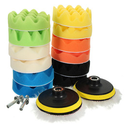 Car Waxing Pads Australia - 16pcs 4inch Sponge Polishing Foam Waxing Buffing Pads Kit Compound Auto Car Drill