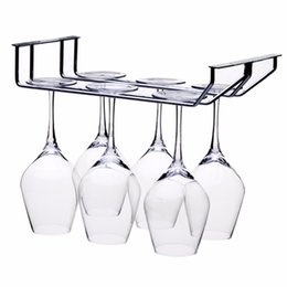 $enCountryForm.capitalKeyWord UK - wholesale 2 Rows Stainless Steel Kitchen Utensil Wine Glass Rack Hanger Bar Home Cup Glass Holder For The Kitchen-