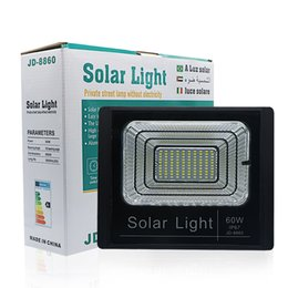 solar panel flood light Australia - Outdoor Led Solar Flood Light Waterproof IP67 Floodlight 60W Spotlight Solar Panel Garden Wall Square Landscape Light Good Quality