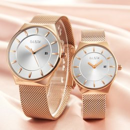 $enCountryForm.capitalKeyWord Australia - Men women quartz waterproof ultra-thin mesh belt strap simple male female watch couple style fashion students wrist watch