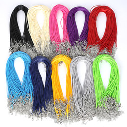 Wholesale 2MM Colorful Snake Wax Leather necklaces Cord String Rope Wire Extender Chain Fashion DIY jewelry Findings in Bulk