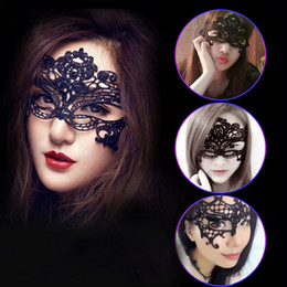 gras half mask Australia - Women Lovely Sexy Exquisite Lace Halloween Masquerade Masks Party Mardi Gras Masks Venetian Party Half Face Mask