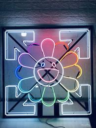 Такаши Мураками Такаши Мураками неоновая вывеска свет пивной бар паб настоящая стеклянная трубка логотип рекламный дисплей неоновые вывески 50см на Распродаже