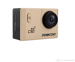 Focus Lcd NZ - SOOCOO C30   C30R 2 inch LCD Sports Camera Wifi 4K Gyro Adjustable Viewing angles(70-170 Degrees) NTK96660 30M Waterproof Action Camera