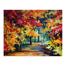 """White Tree Life Painting Australia - 24""""x48"""" Hand-painted oil painting living room white birch painting sofa wall decoration European villa green tree shaded path"""