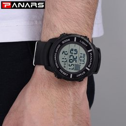 resistance electronics 2020 - PA Resistance When Hot Selling Men Electronic Watch Multi-functional Dual-Time Watch Cool Outdoor Sports Electronic disc