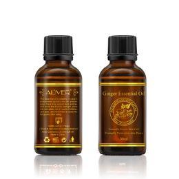 Опт Чисто естественные эфирные масла массажа имбиря для внимательности тела СПЫ органическая внимательность кожи массажа тела ослабляет масло благоуханием