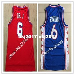 Wholesale 2019 New Julius Erving Dr J Top Basketball Jersey Embroidery Stitched US Size S XXL vest Jerseys Ncaa