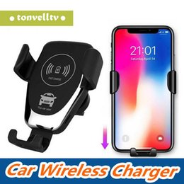 SamSung note SenSor online shopping - 10W Universal Gravity Sensor Automatic Wireless Fast Charging Car Mount Quick Charger Stand For iPhone XS X XR Samsung Note S9 S8