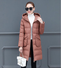 $enCountryForm.capitalKeyWord NZ - Free shipping 01 cotton women's long section 2018 winter new Korean version of the thickening loose thin wild large size ladies down jacket