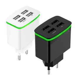 Iphone 4a Australia - 4 ports one charger 4A 5V Fast Wall Charger USB Quick Charge Travel Power Adapter for iPhone X Samsung,ABS material with package