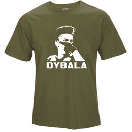 army masks 2019 - Mens luxury brand designer t shirts 2018 Short Sleeve Cotton T Shirts Man Clothing Paulo Dybala mask Custom Tshirt Size