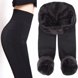 Toptan satış Rooftrellen Sıcak Yeni Moda Kadın Sonbahar Ve Kış Yüksek Elastikiyet Ve İyi Kalite Kalın Kadife Pantolon Sıcak Tozluklar