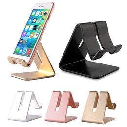 Hot universal de metal de alumínio suporte da mesa do telefone móvel tablet suporte para iphone 7 plus s8 além de zte max xl com pacote de varejo dhl