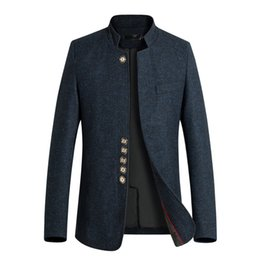 Rowing Suits Australia - good quality 2019 Brand New Men's Suits Slim Stand-up Overcoat For Male With A Single Row Of Multi-button Suits Outer Wear Garment