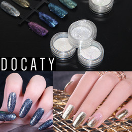 $enCountryForm.capitalKeyWord Australia - Docaty Colorful 3D Nail Glitter Mirror Flakes Sparkly New DIY Design Sequins Spangles Polish Manicure Glitter for Nails Art Deco