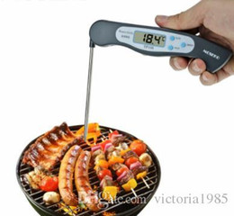 $enCountryForm.capitalKeyWord Australia - Foldable Digital BBQ Thermometer Oven Folding Probe Meat Food Kitchen Thermometer Liquid Water Oil Cooking Tools
