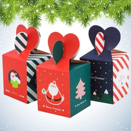 holiday chocolate gifts Australia - DIY Christmas gift box creative holiday apple candy chocolate packaging personalized carton Christmas handmade packaging box free shipping