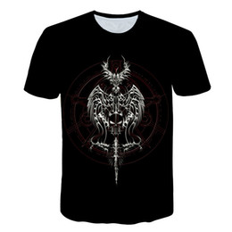 sword art online shirt 2019 - Anime Sword Art Online Punk T shirt Men Women 3D Print T-shirts Harajuku Skull Poker Funny Casual 3D Printed T shirt che